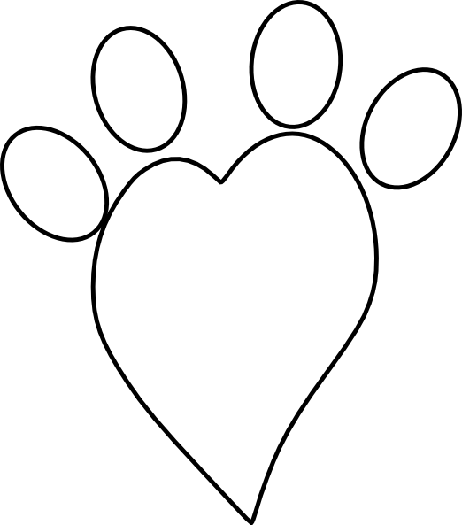 Heart paw print clipart svg royalty free stock Heart Paw Print Clipart - Clipart Kid svg royalty free stock