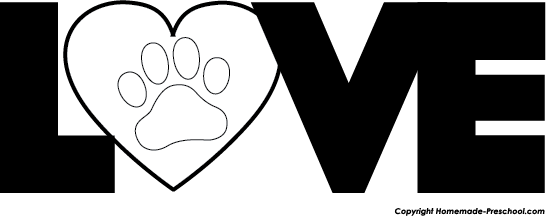 Paw print with hearts clipart clipart download Free Paw Prints Clipart clipart download