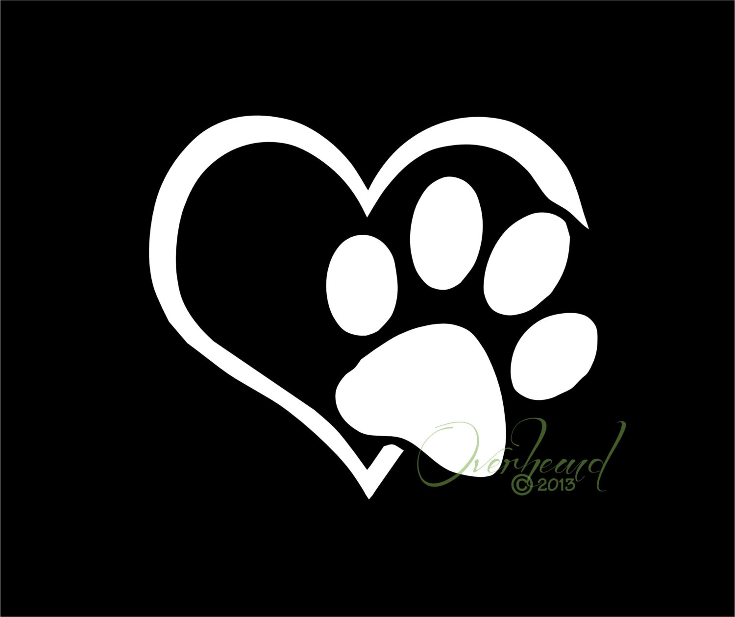 Paw print with hearts clipart jpg free Paw print in heart clipart - ClipartFest jpg free
