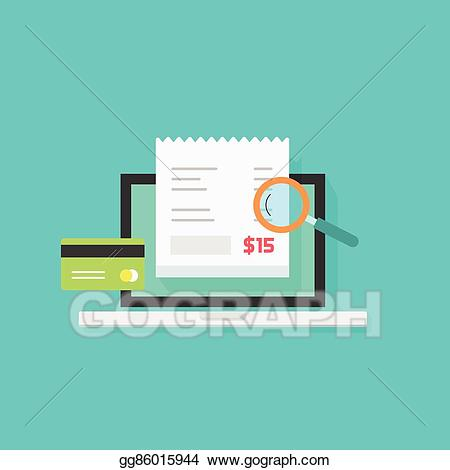 Pay clipart bill online clip download Vector Stock - Online payment audit analyzing vector, pay ... clip download
