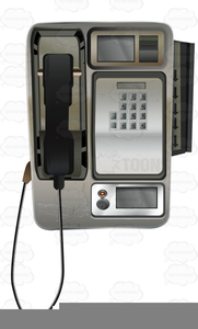 Pay phone clipart