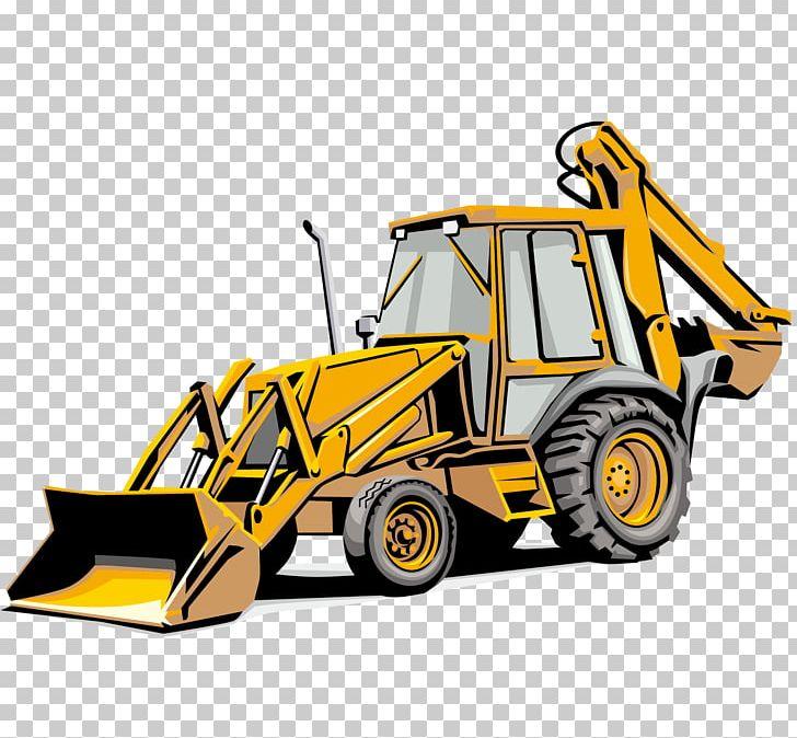 Payloader clipart image black and white download Backhoe Loader Sticker Heavy Equipment Excavator PNG ... image black and white download