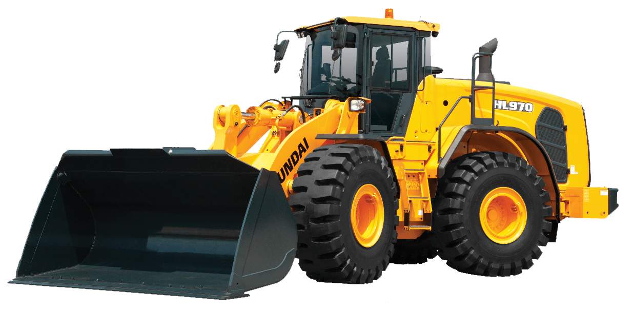 Payloader clipart svg black and white stock Z-Bar & XT Wheel Loaders Archives - Hyundai Construction ... svg black and white stock