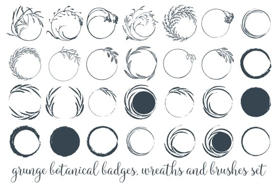 Pb logo clipart svg freeuse stock Grunge Wreaths Clipart Rustic Circles Botanical Wreath Png ... svg freeuse stock