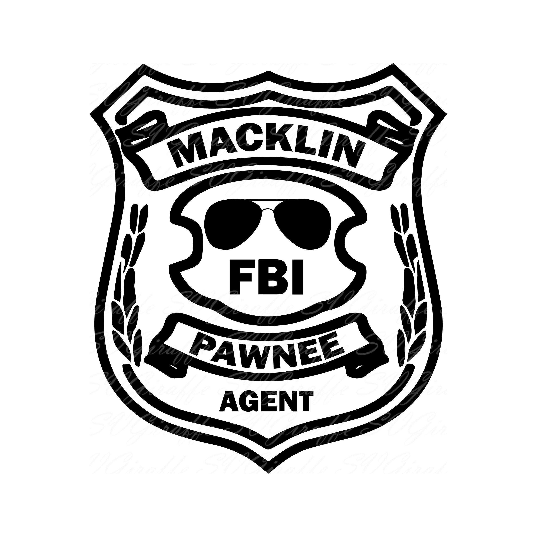 Pdf jpg clipart vector royalty free download Burt Macklin Parks and Recreation FBI badge SVG DXF png pdf ... vector royalty free download