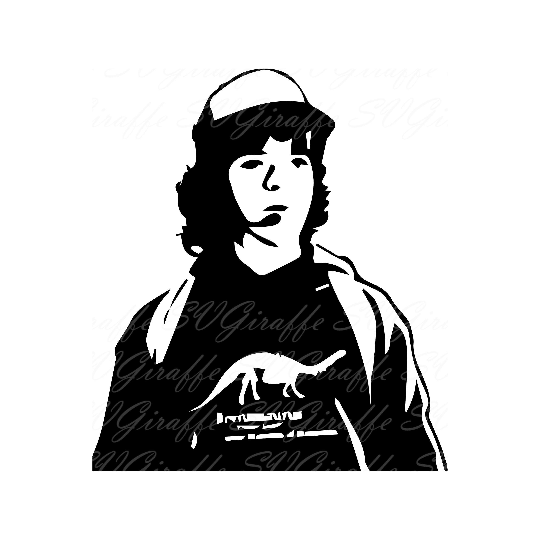 Pdf jpg clipart graphic free download Dustin Stranger Things SVG DXF PNG pdf jpg files   Stranger ... graphic free download