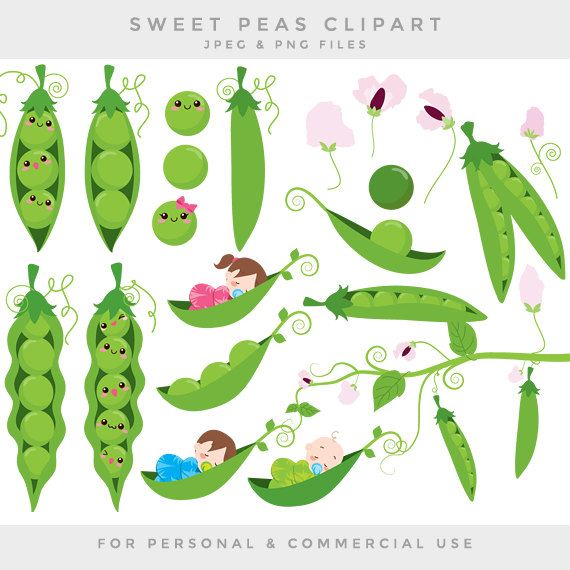 Pea in the pod clipart svg black and white Peas in a pod clip art sweet peas clipart baby babies green ... svg black and white