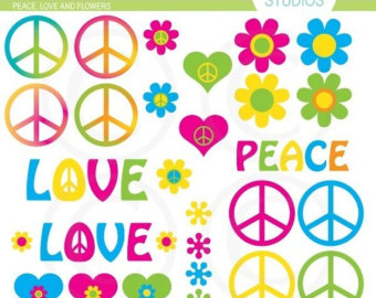 Peace and love clipart png free download Peace sign clipart | Etsy png free download