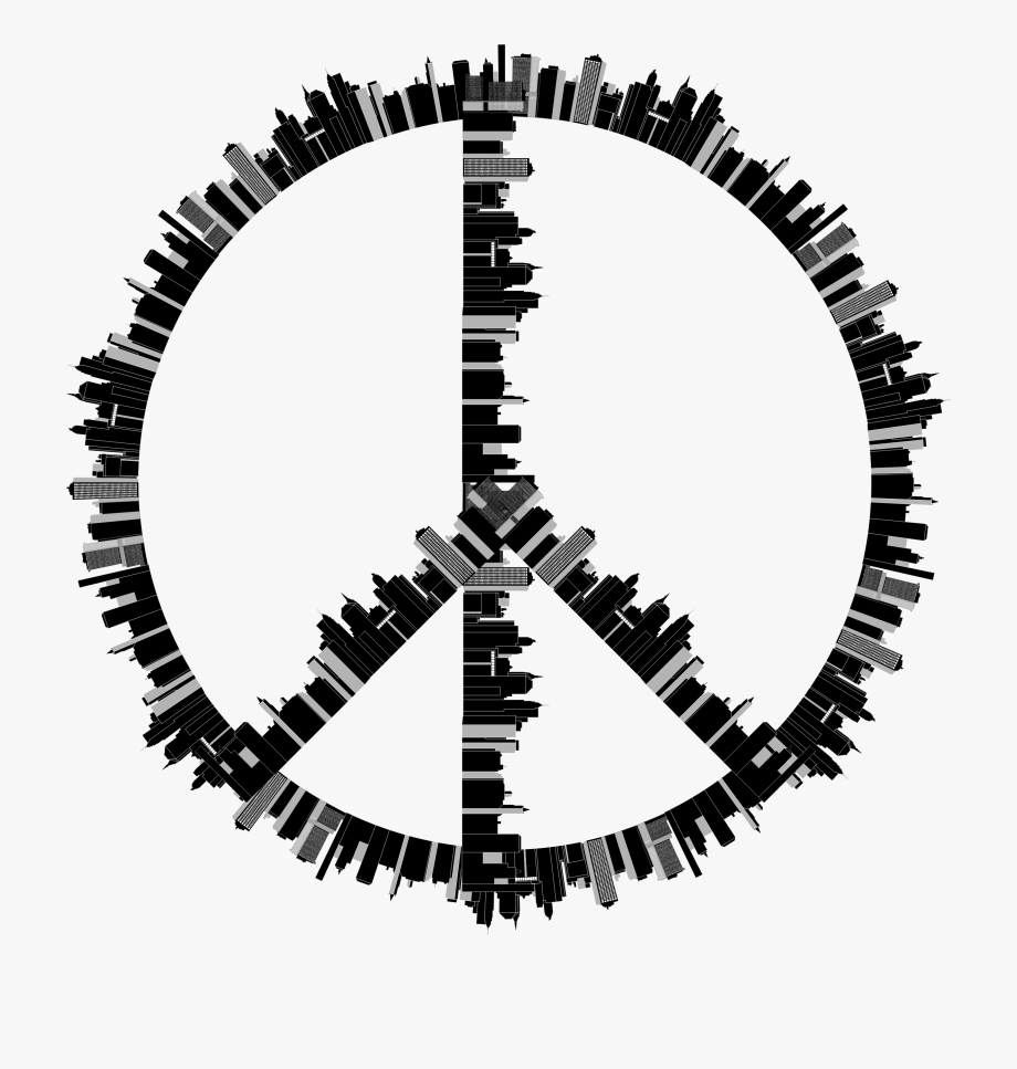Peace clipart black and white vector transparent stock Peace Sign Clipart Peae - Black And White Peace Sign ... vector transparent stock
