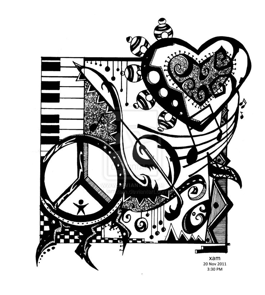 Peace love and rock and roll clipart image free library Peace Love and Rock n\' Roll by iamxam.deviantart.com on @deviantART ... image free library