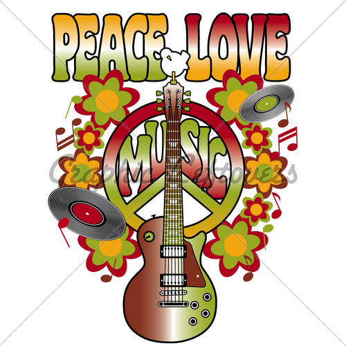 Peace love music clipart free jpg royalty free download Peace, Love And Music · GL Stock Images jpg royalty free download