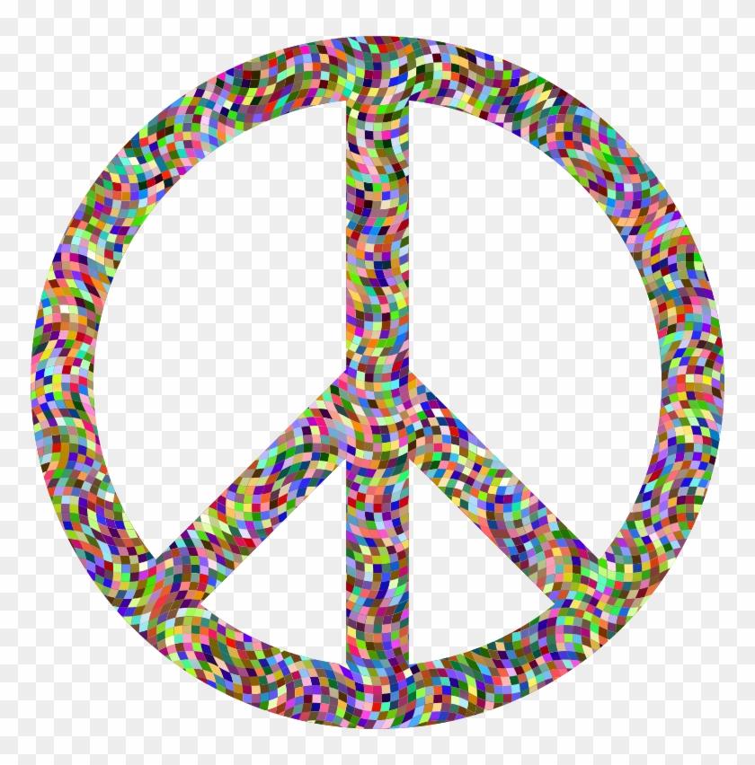 Peace love music clipart free picture transparent download Clipart Prismatic Confetti Peace Sign - Peace Love Music Logos, HD ... picture transparent download
