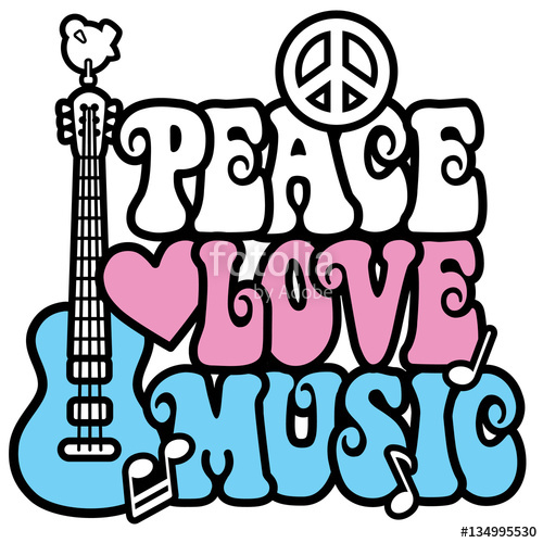 Peace love music clipart free svg freeuse library Peace-Love-Music in Pastels\