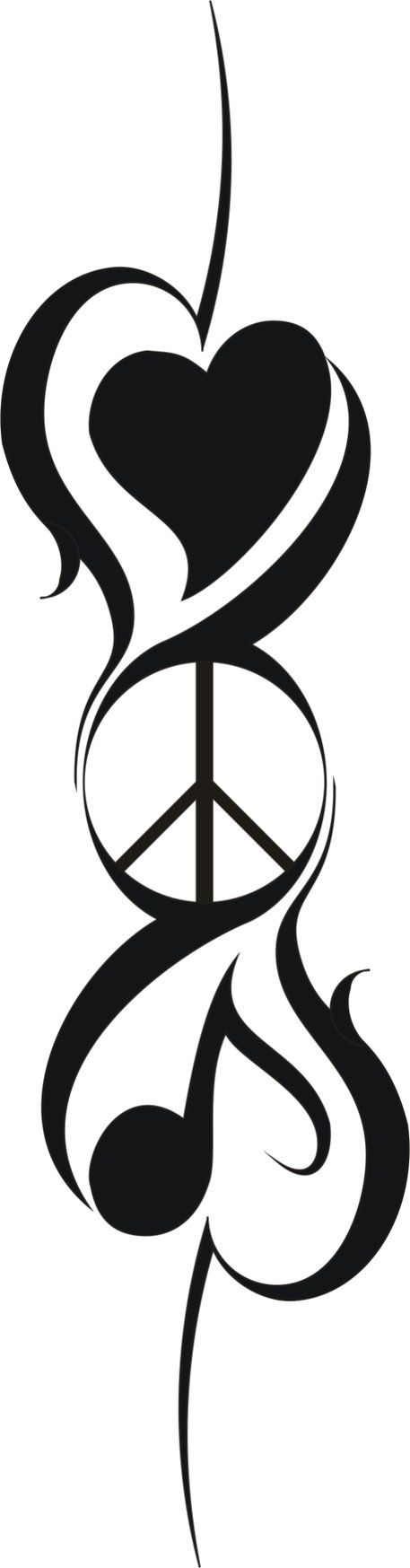 Peace love music dance cartoon clipart black and white freeuse peace love music tattoos gallery - Clip Art Library freeuse