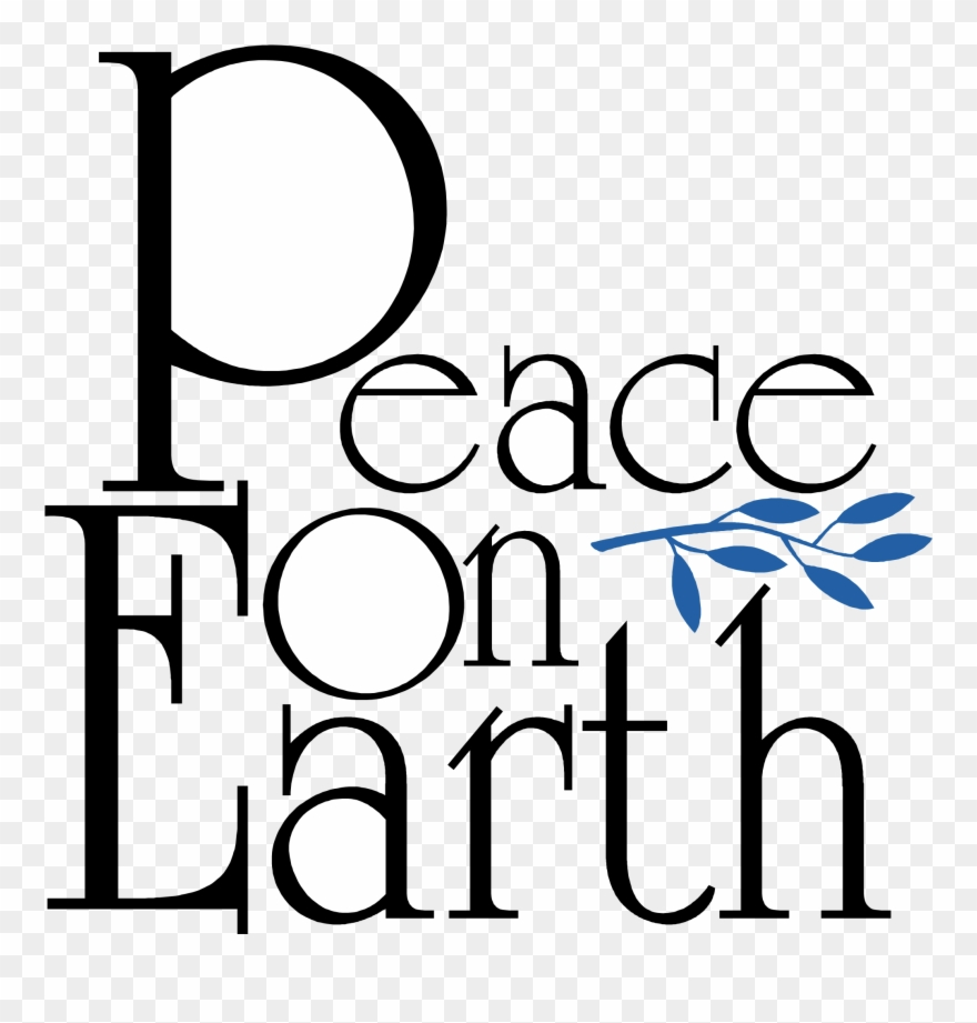 Peace on earth clipart black and white picture royalty free download Logo Transparent Svg Vector - Words Peace On Earth Clipart ... picture royalty free download