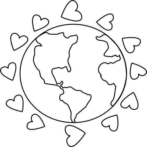 Peace on earth clipart black and white graphic library Free Black And White Earth, Download Free Clip Art, Free ... graphic library
