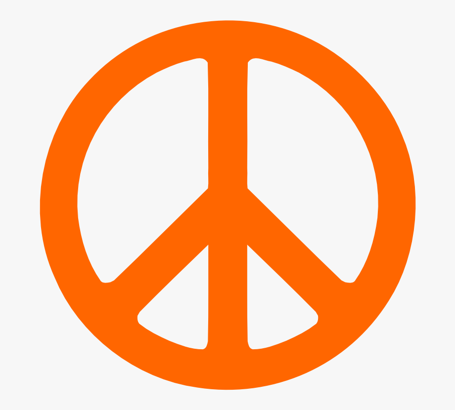 Peace sign clipart royalty free download Peace Sign Clipart Traceable - Orange Peace Sign #1643965 ... royalty free download