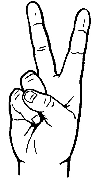 Peace sign hand clipart image free library Peace Sign Hand Drawing Hand   Clipart Panda - Free Clipart ... image free library
