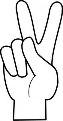 Peace sign hand clipart black and white stock Cartoon Peace Sign Hand Clipart | Free download best Cartoon ... black and white stock