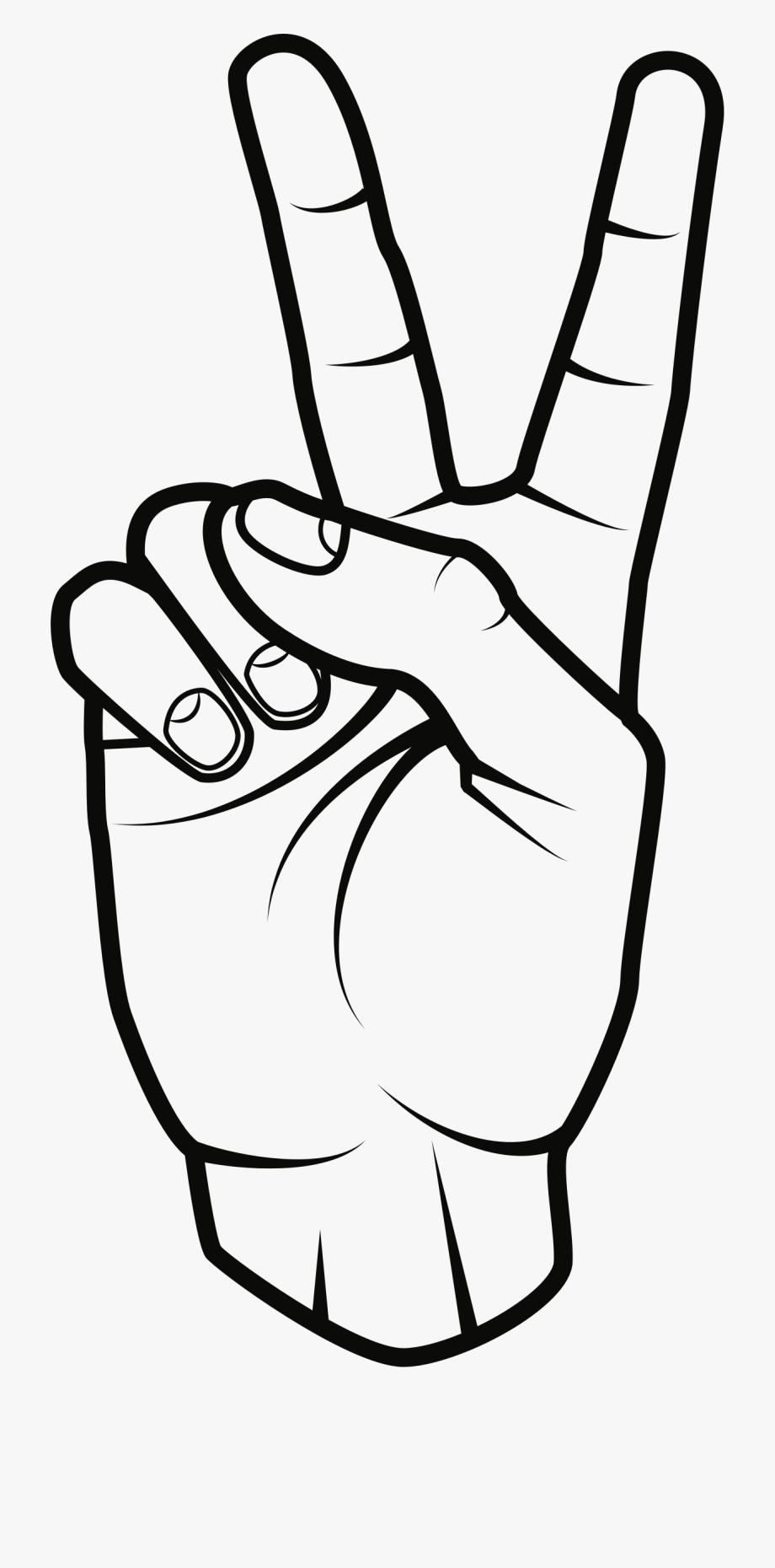 Peace sign hand clipart image library stock Peace Sign Clipart Black And White - Clip Art Peace Sign ... image library stock