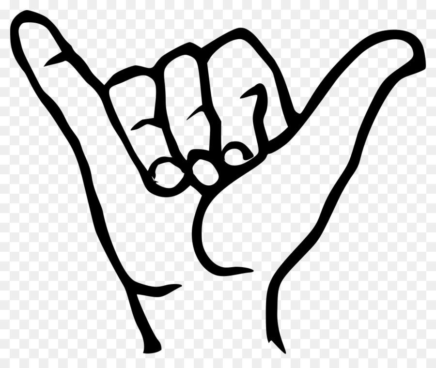 Peace sign language logo clipart png black and white stock Shaka sign Hawaii Sign language Clip art - peace sign png black and white stock