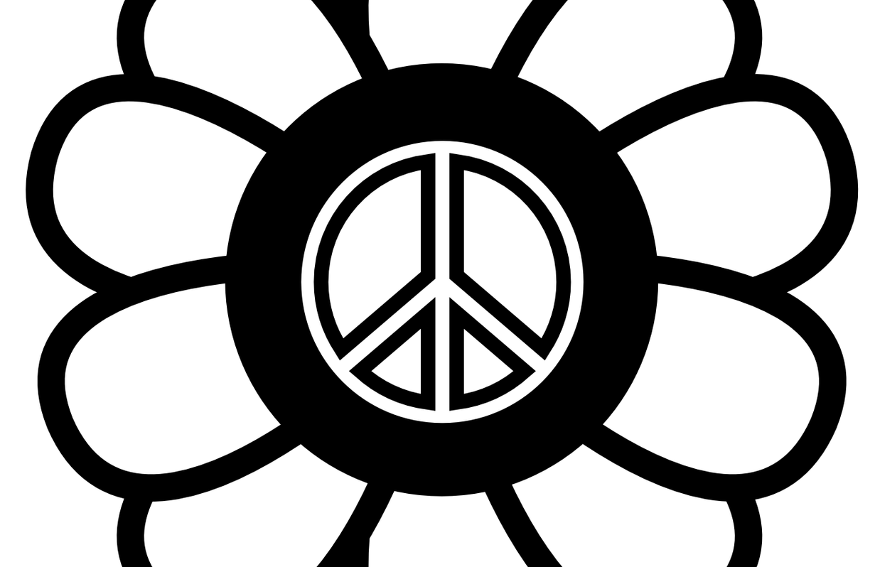 Peace clipart black and white jpg free stock Peace Sign Black And White | Free download best Peace Sign ... jpg free stock