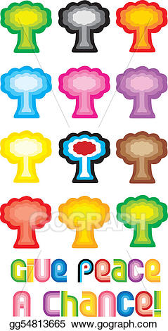 Peace tree clipart svg free Vector Stock - Peace tree or mushroom cloud symbol - give ... svg free