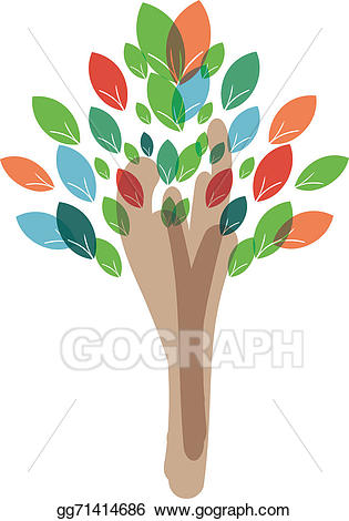 Peace tree clipart clipart royalty free download Drawing - Peace tree. Clipart Drawing gg71414686 - GoGraph clipart royalty free download