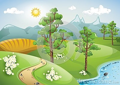 Peaceful scene clipart graphic freeuse 25+ Peaceful Landscape Clip Art Pictures and Ideas on Pro ... graphic freeuse