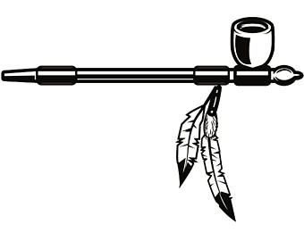 Peacepipe clipart clip art free stock Indian Peace Pipe Logo - LogoDix clip art free stock