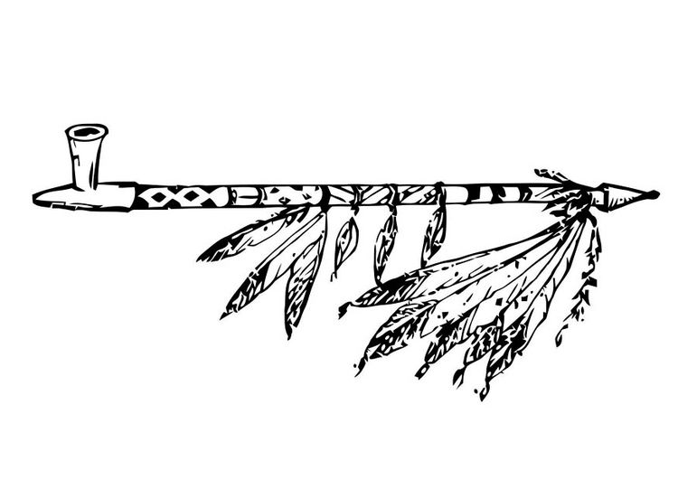 Peacepipe clipart jpg Coloring page peace pipe - img 18756.   Indians   Indian ... jpg
