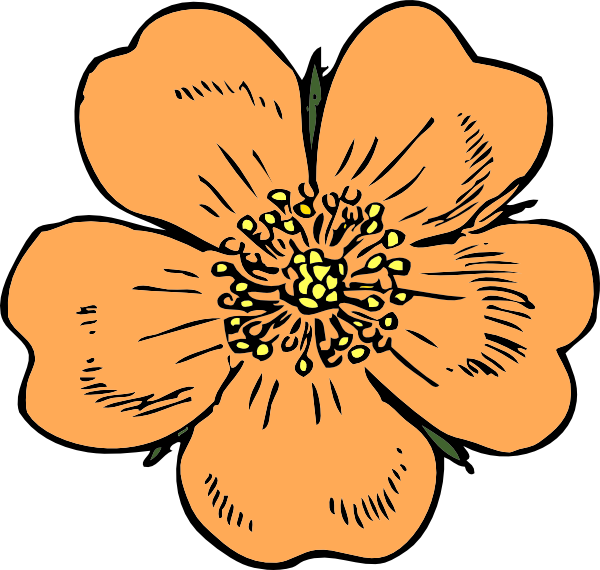 Peach flower clipart clipart free stock Peach Flower Clip Art at Clker.com - vector clip art online, royalty ... clipart free stock