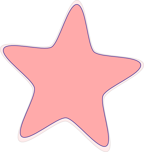 Peach star clipart clip freeuse library Peach Star Clip Art at Clker.com - vector clip art online, royalty ... clip freeuse library