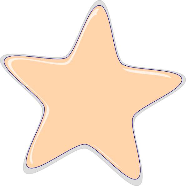 Peach star clipart transparent Peach Star Clip Art at Clker.com - vector clip art online, royalty ... transparent