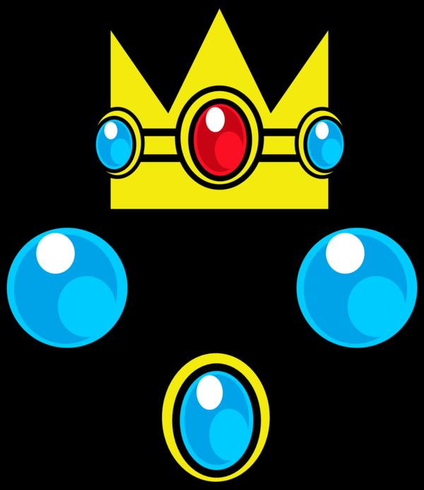 Princess peach crown clipart