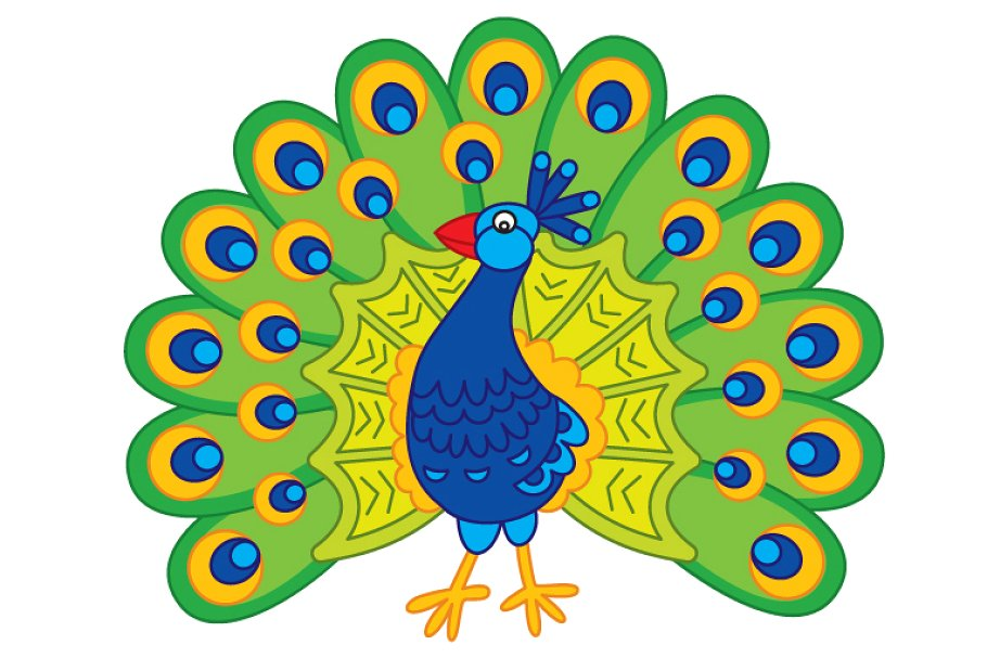 Peacock clipart vector jpg transparent stock Vector Peacock, Vector Feather jpg transparent stock