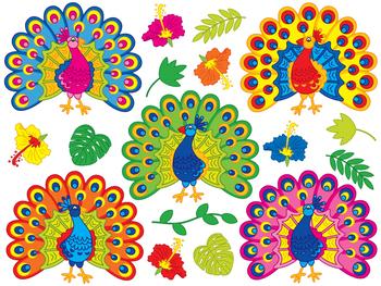 Peacock clipart vector clip art Peacock Clipart - Digital Vector Peacock, Tropical, Hibiscus, Peacock Clip  Art clip art