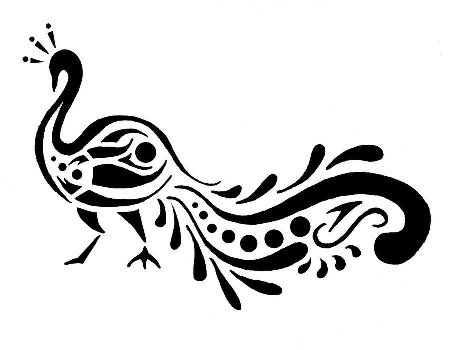 Peacock design clipart vector freeuse library Free Peacock Design Black And White, Download Free Clip Art ... vector freeuse library