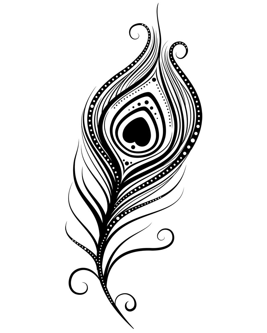 Peacock design clipart graphic Peacock Feather Coloring Page | Clipart Panda - Free Clipart ... graphic