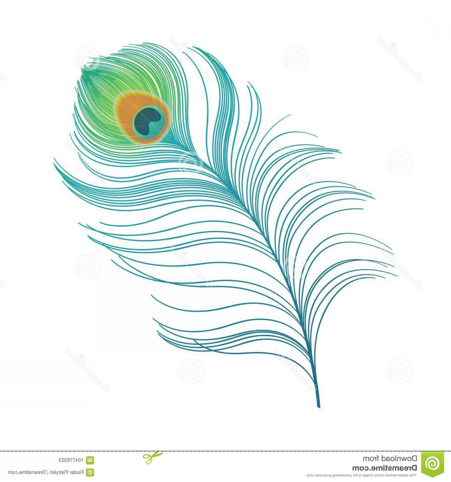 Peacock feather clipart vector picture royalty free stock Peacock Plume Colorful Feather Vector Peacock Plume Colorful ... picture royalty free stock
