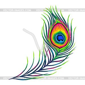 Peacock feather clipart vector clip art black and white stock Peacock feather - vector clipart clip art black and white stock