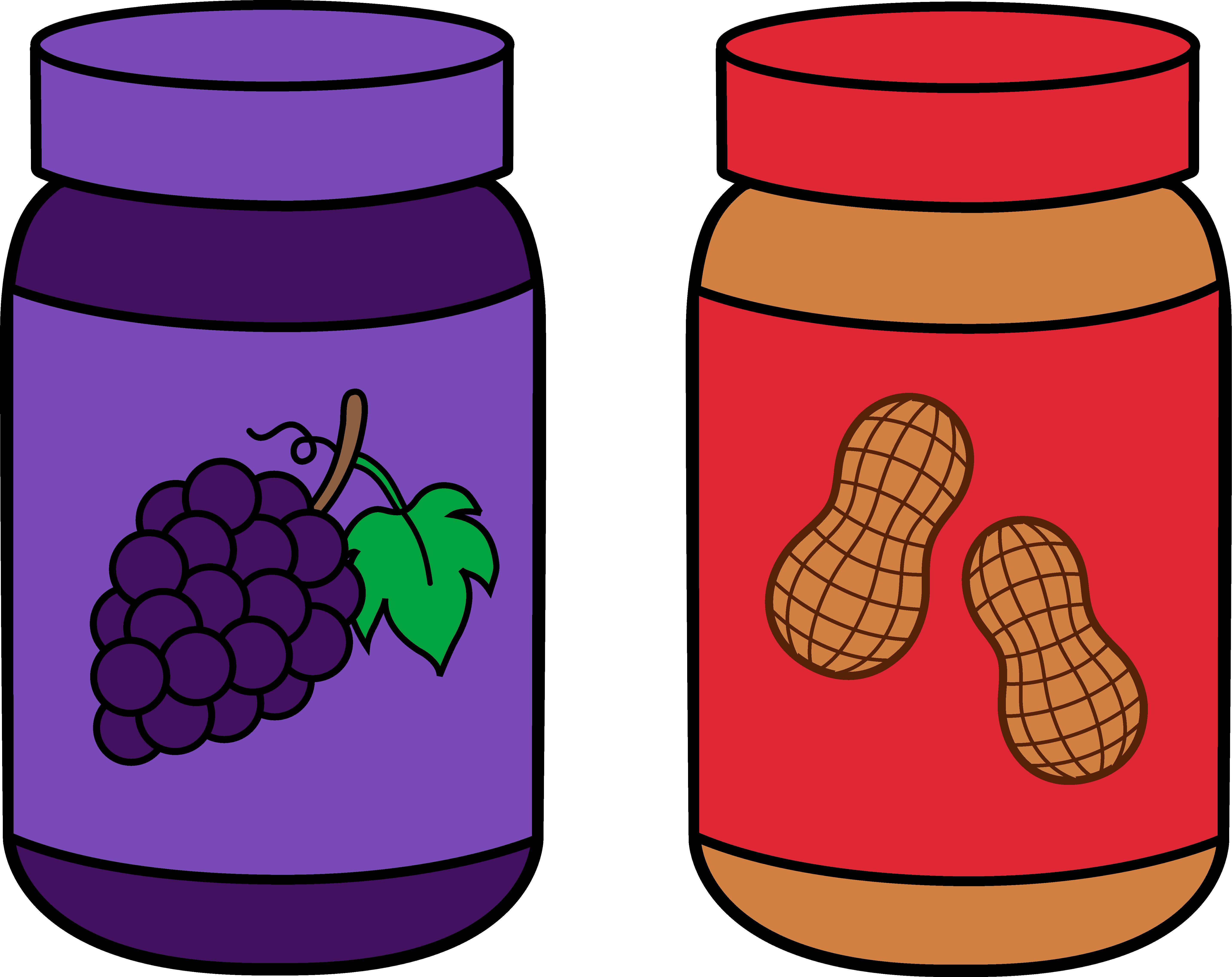 Peanut butter and jelly public domain free clipart clip art library library Jars Of Peanut Butter And Jelly Free clipart free image clip art library library