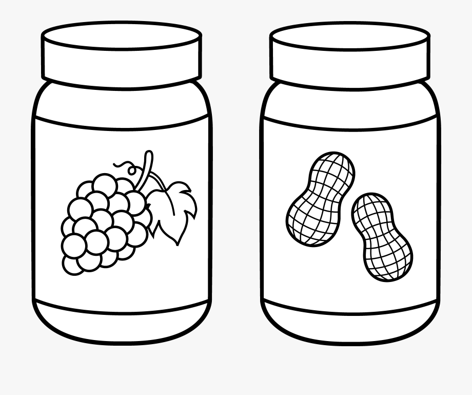 Peanut butter clipart black and white black and white library Mason Coloring Page Democraciaejustica Peanut Butter ... black and white library