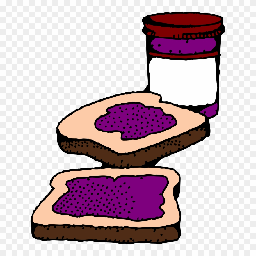 Peanut butter jelly sandwich clipart clip art royalty free download Free Colorized Peanut Butter And Jelly Sandwich - Jelly Sandwich ... clip art royalty free download