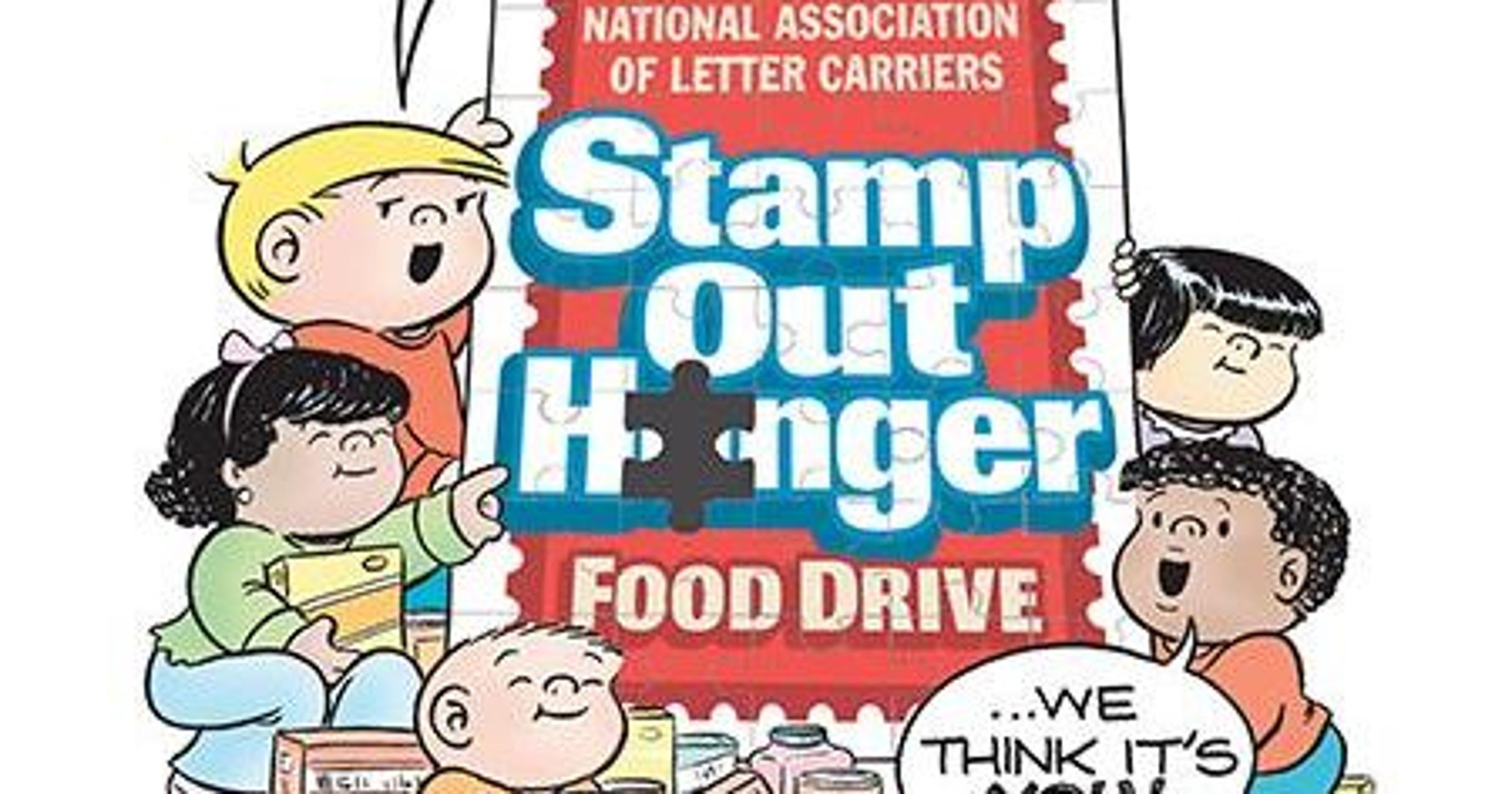 Peanut butter & oatmeal for urban ministries clipart clip art transparent Postal food drive set for Saturday clip art transparent