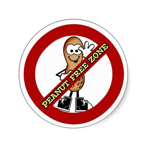 Peanut free zone clipart picture transparent library Peanut Free Zone Sticker | Zazzle.com | Peanut Free | Peanut ... picture transparent library