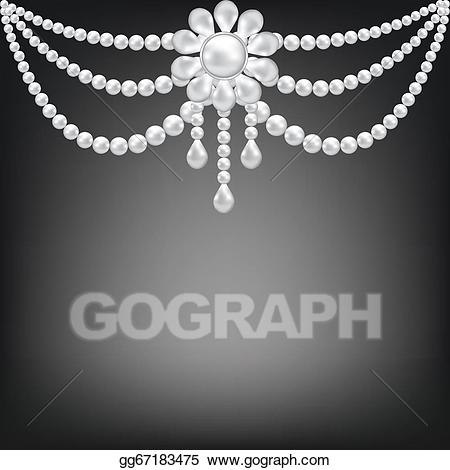 Pearl brooch clipart png library library Vector Clipart - Pearl brooch decoration . Vector ... png library library