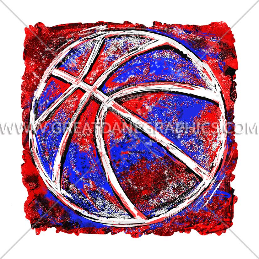Pearl colored basketball clipart picture black and white Grunge Basketball | Production Ready Artwork for T-Shirt Printing picture black and white