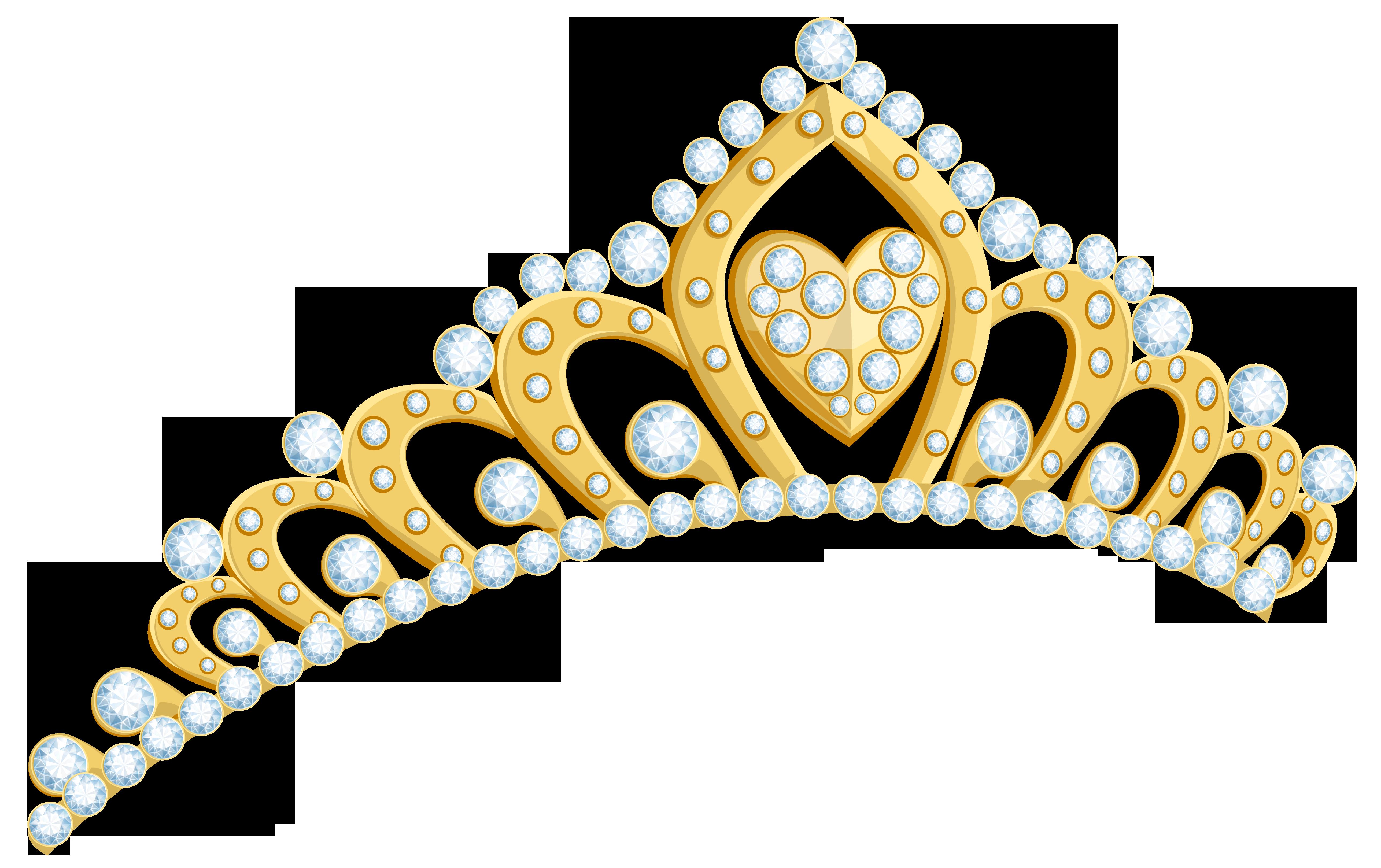 Pearl crown cartoon clipart clip art transparent Golden Tiara PNG Clipart Image | Gallery Yopriceville - High ... clip art transparent