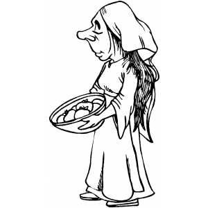 Peasant clipart black and white clip art free stock Poor Peasant coloring page   school   Coloring pages, Printable ... clip art free stock
